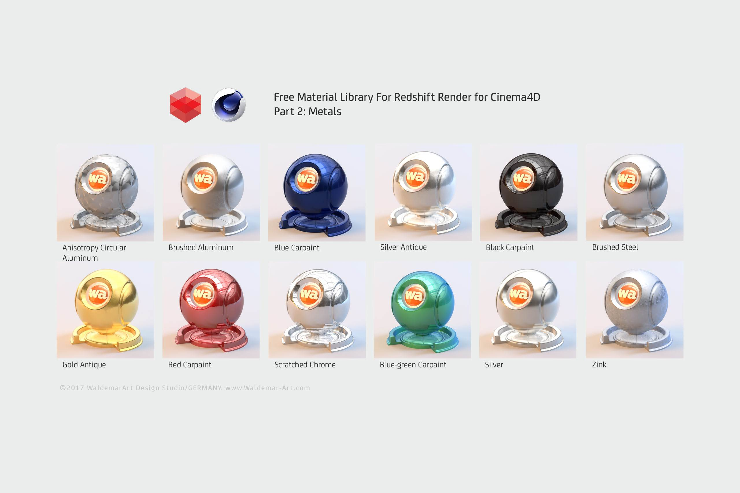 Free Redshift Material Pack/Library for Cinema 4D - Part 2