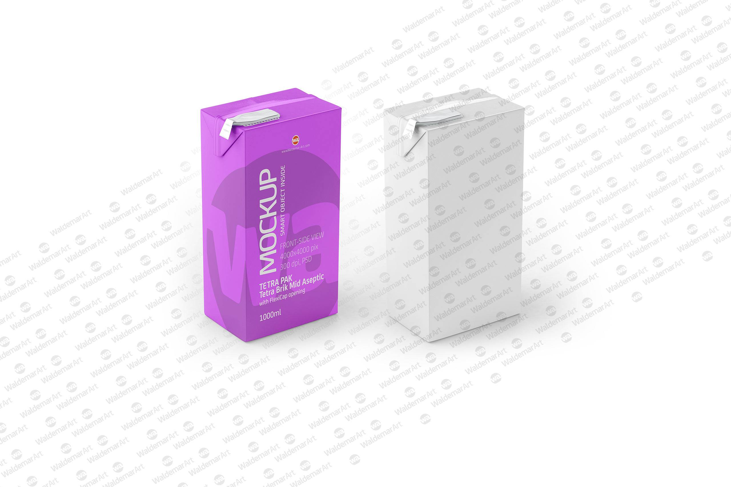 packaging mockup of tetra pack brick mid aseptic 1000ml