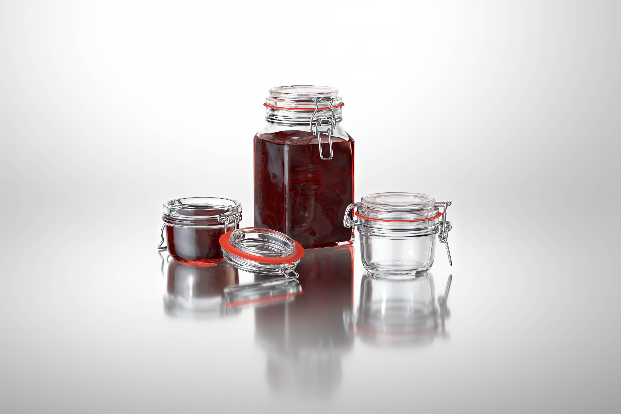 Clip Clap Packaging 3d Model Of Glass Jars For Various