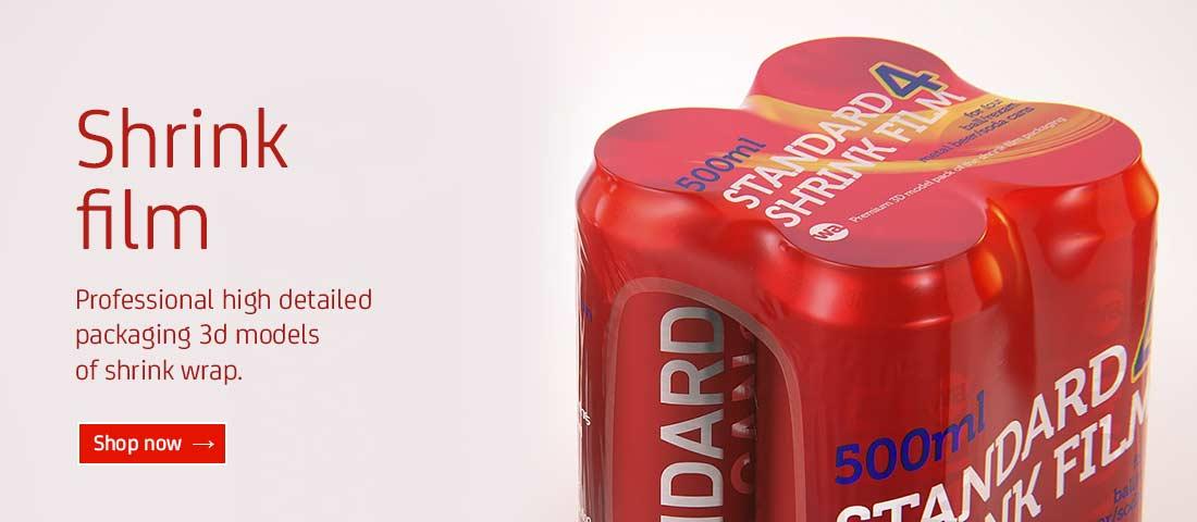 Shrink film packaging 3D models for Download