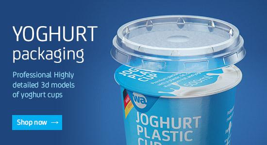 Yoghurt packaging 3D models for Download