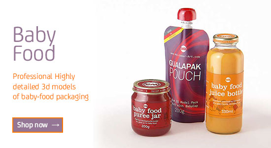 Baby-food Packaging 3D models for Download