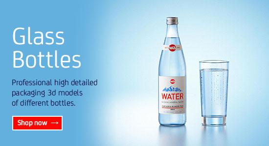 Glass Bottles Packaging 3D models for Download