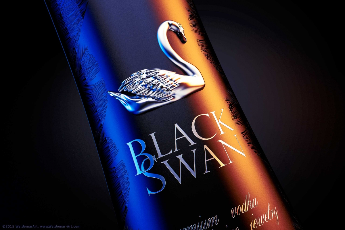 3D Visualization of a Vodka BlackSwan