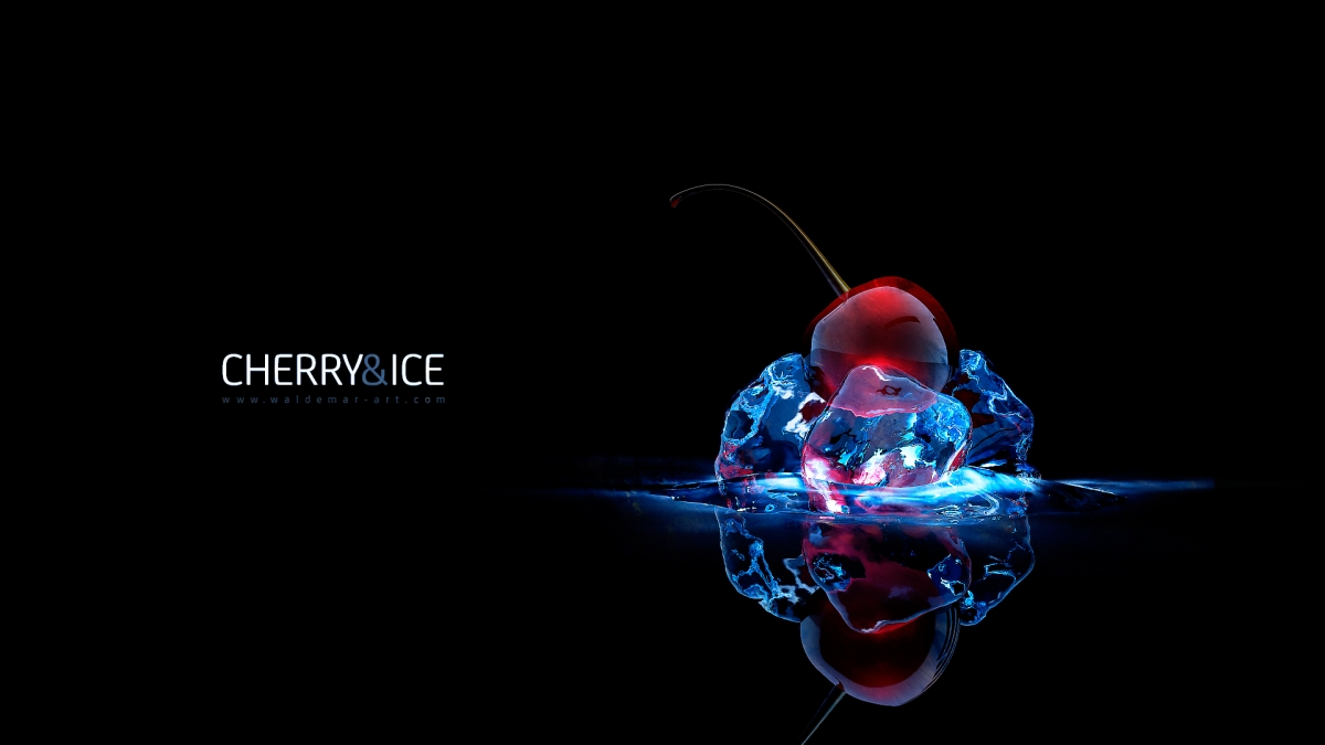 Cherry and Ice 3D Wallpaper
