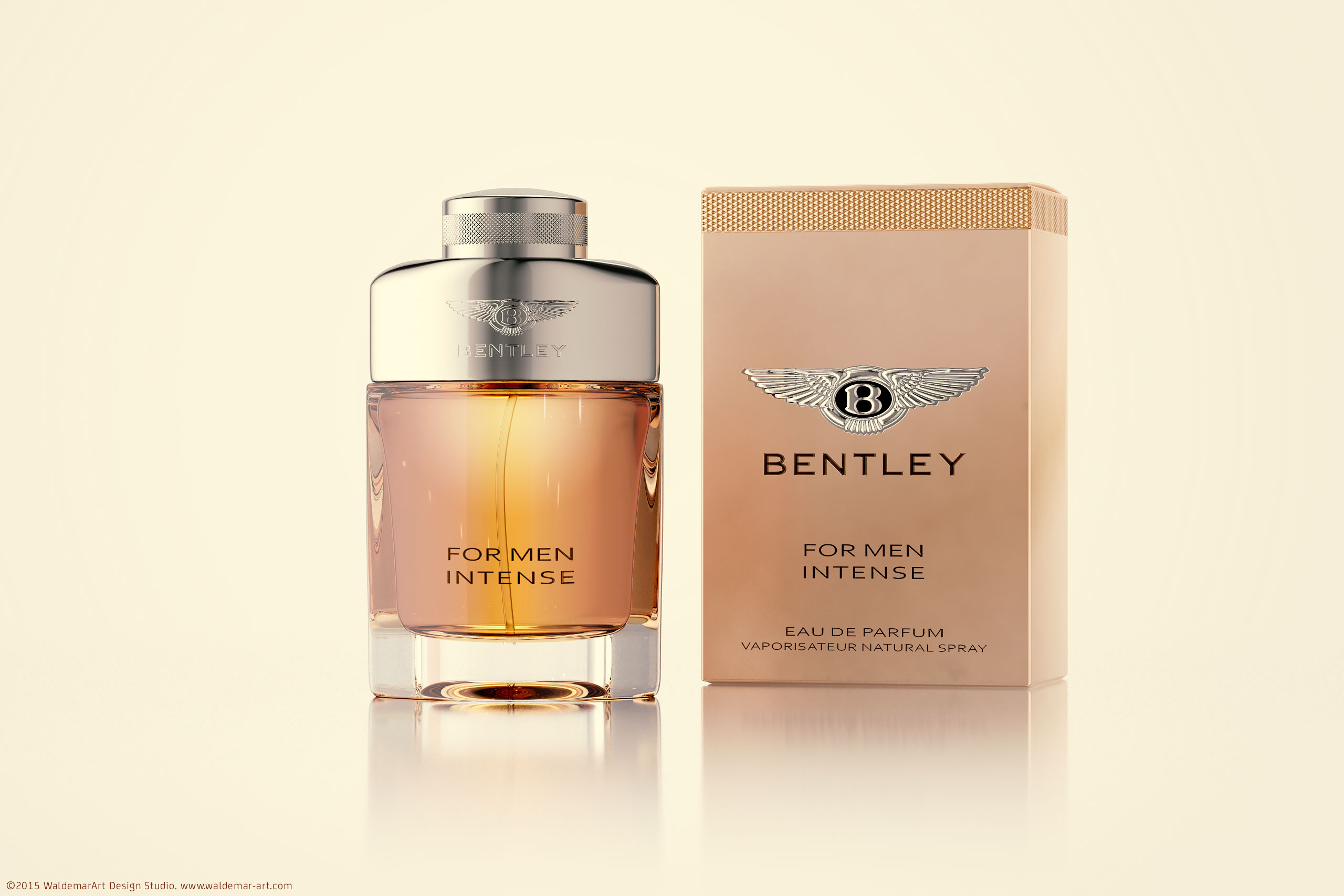Bentley For Men Intense  - 3D Render