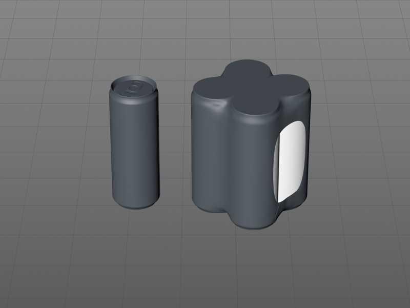 4 Shrink Wrap packaging for Sleek soda can 355ml premium packaging 3D model