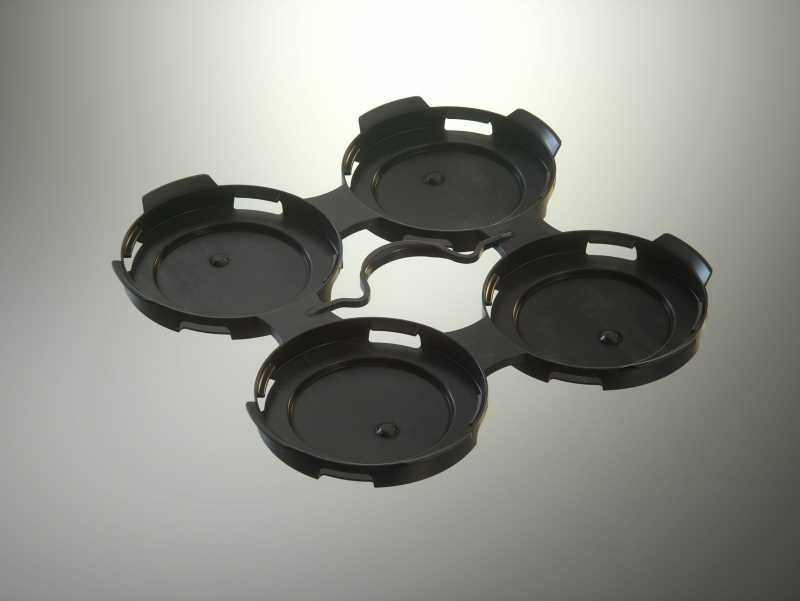 4x PakTech Plastic Handle for Metal Cans 3D model