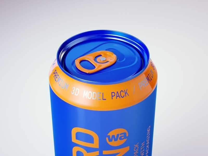 6 Shrink Film pack with Beer Can 500ml  v2 (WITHOUT WRINKLES) premium 3d packaging model pack