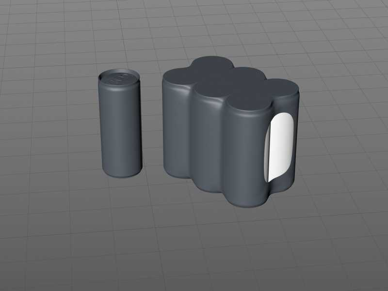 6 Shrink Wrap packaging for 250ml Slim Soda Can premium packaging 3D model