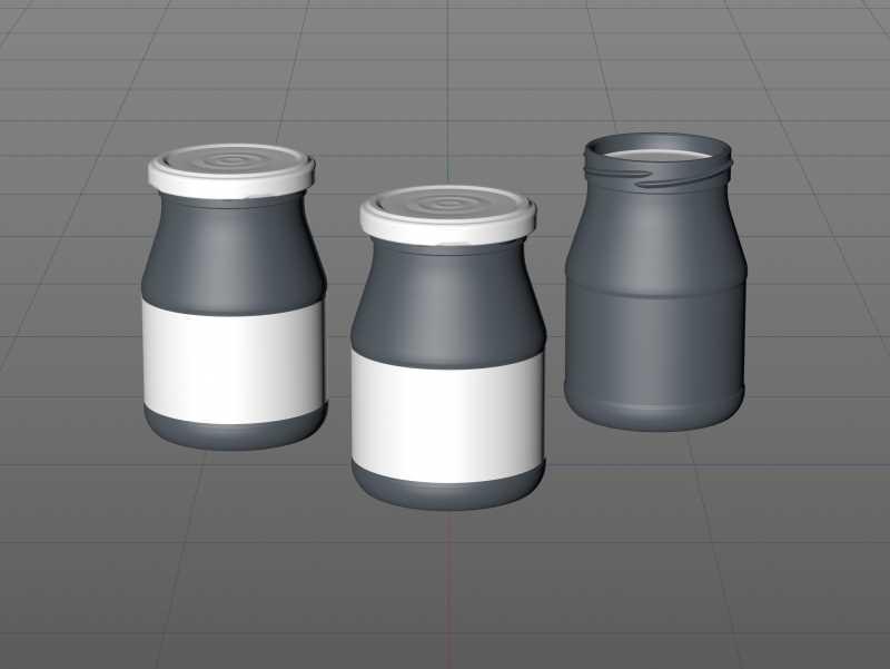 Ajvar Glass Jar 340ml packaging 3D model