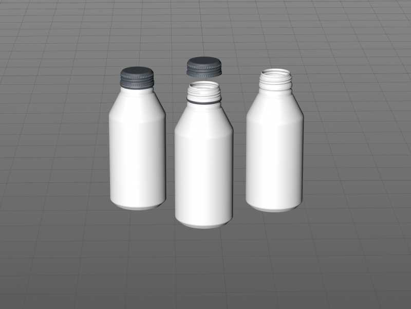 Alumi-tek (Alumitek) Aluminum Bottle packaging 3d model 12oz-355ml