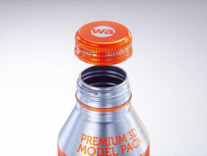 Alumi-tek (Alumitek) Aluminum Bottle packaging 3d model 16oz-473ml