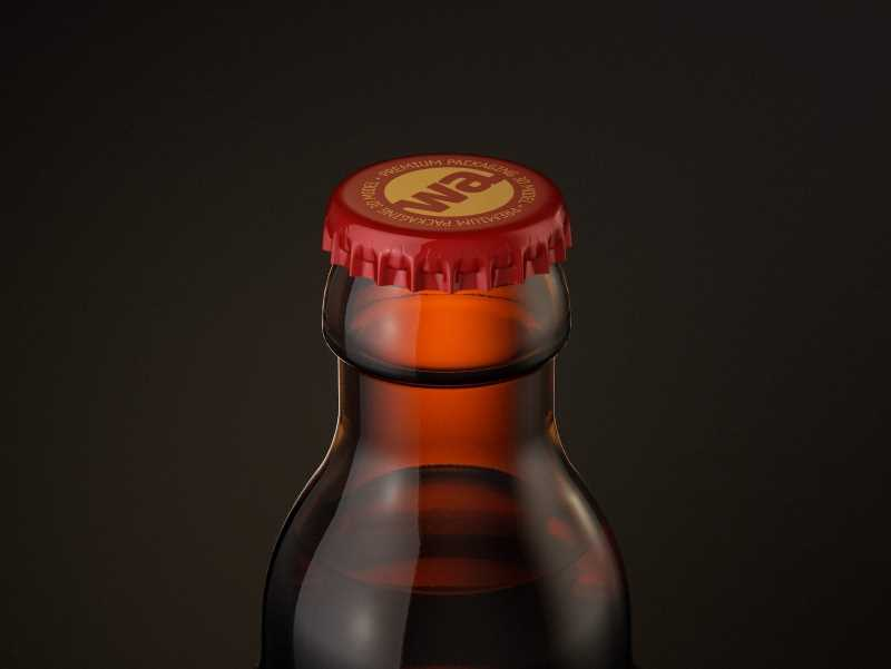 STEINIE Beer Glass Bottle 330ml with crown cork and labels packaging 3d model pak