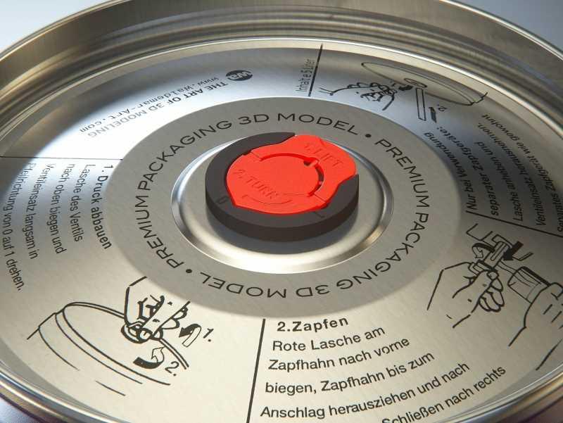 Beer Metal KEG 5L (5000ml) 3D model