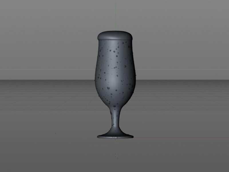Professional Beer Glass 3D Scene (V-ray version)