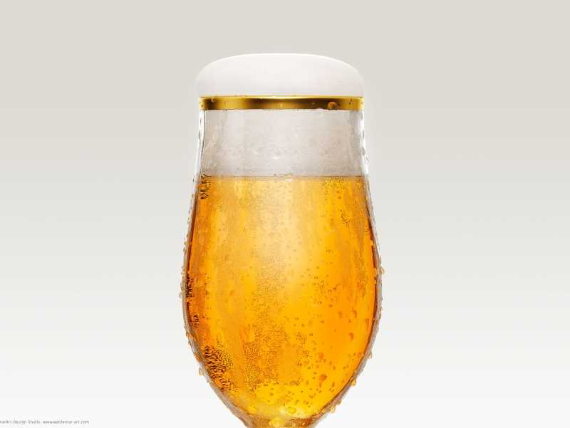 Professional Beer Glass 3D Scene (V-ray version)