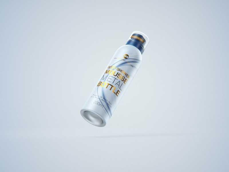 Body Wash/Shower Mousse 200ml metal bottle packaging 3D model