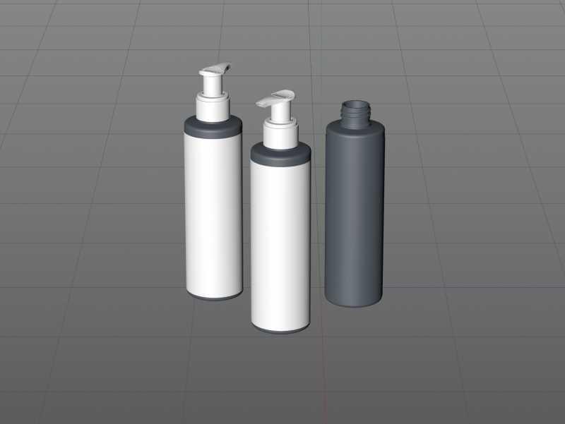 Cleansing Gel Plastic Bottle 200ml packaging 3D model