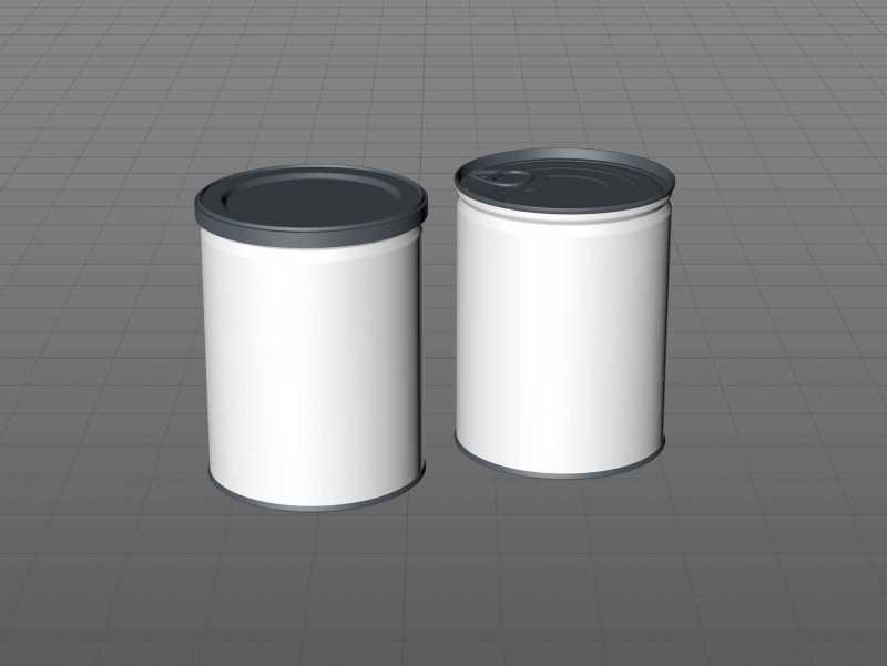 Coffee Metal Can 250g packaging 3d model