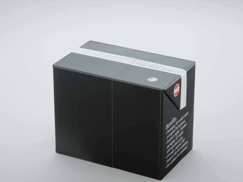 SIG combiBloc Compact 200ml with perforation, straw hole and no opening packaging 3D model
