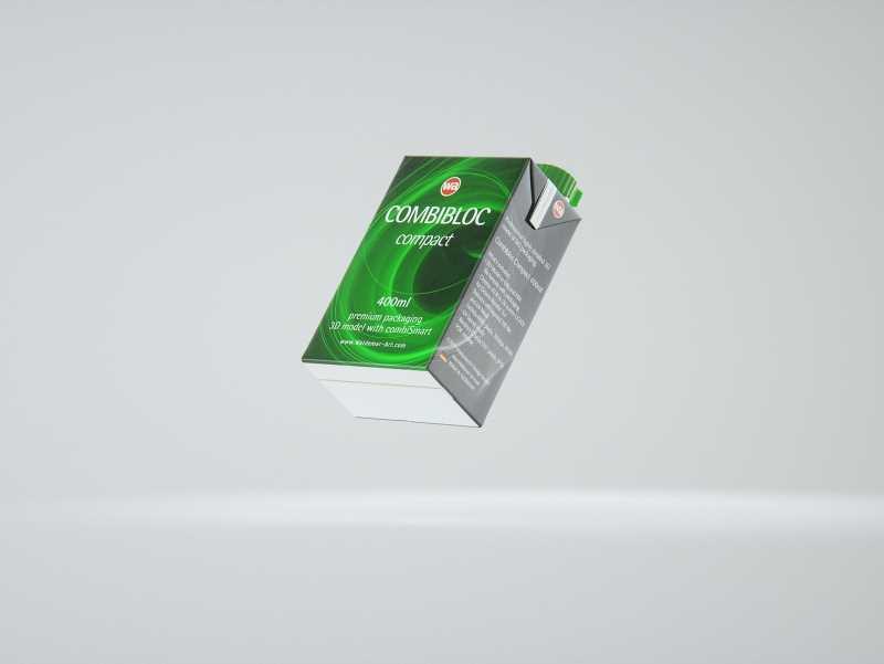 SIG combiBloc Compact 400ml with combiSmart closure packaging 3D model