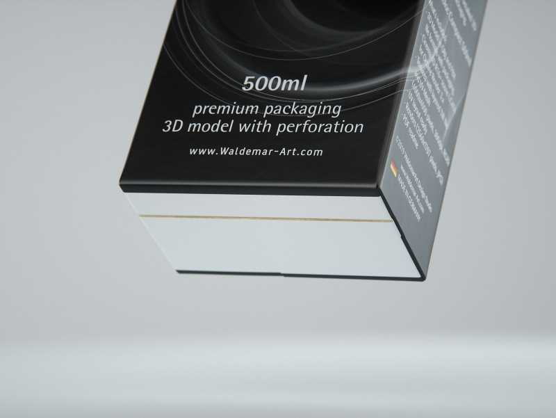 SIG combiBloc Compact 500ml with perforation, straw hole and no opening packaging 3D model