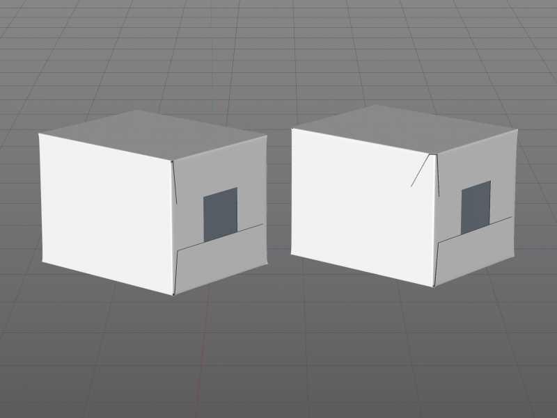 Packaging 3D model of Corrugated Cardboard Box for x12 Tetra Brick Edge 250ml
