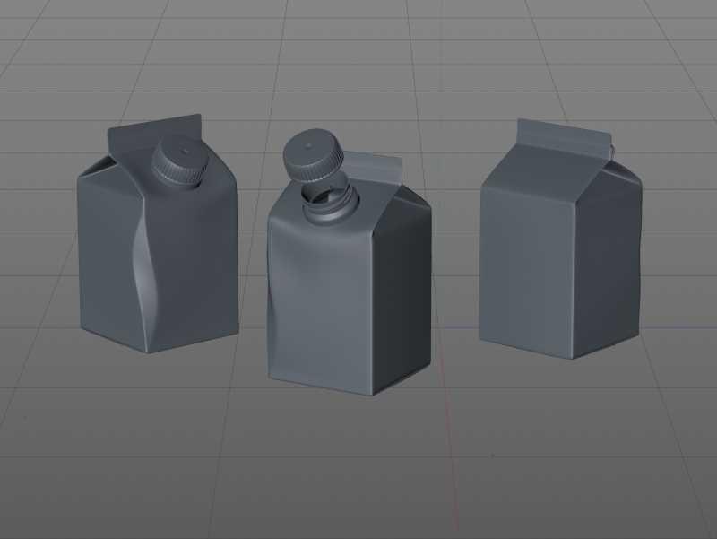 Packaging 3D model of Elopak Pure-Pak Diamond Curve 250ml