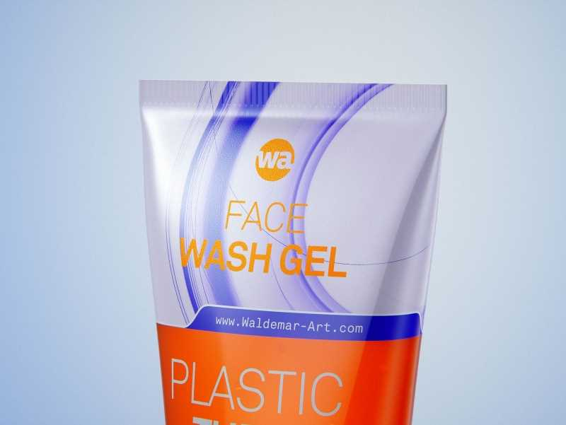 Face wash gel plastic tube 100ml packaging 3d model