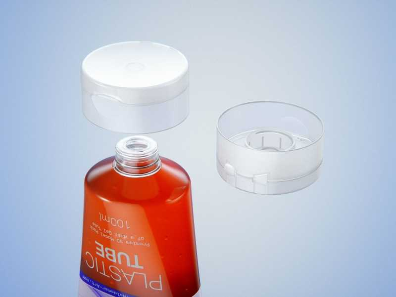 Face wash gel plastic tube 100ml packaging 3d model
