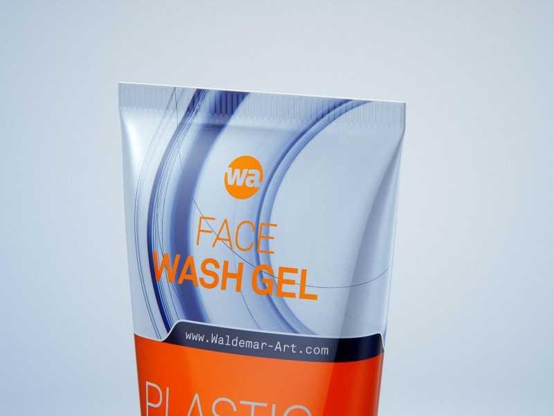 Face wash gel plastic tube 150ml packaging 3d model