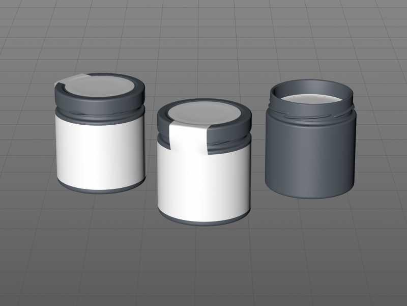 Wild Flower Honey Glass Jar 500g packaging 3d model