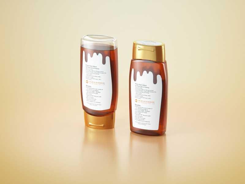 Flower Honey Plastic Pack 500g Packaging 3D model