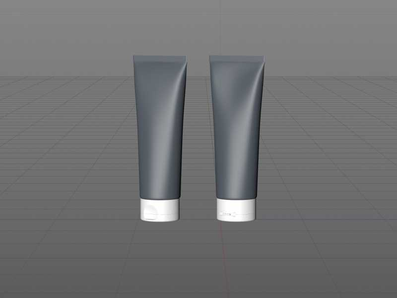 Hair Mask Plastic Tube 200ml packaging 3d model