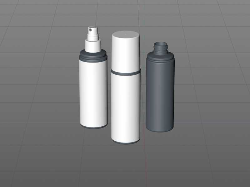 Hair repare spray plastic bottle 200ml packaging 3d model