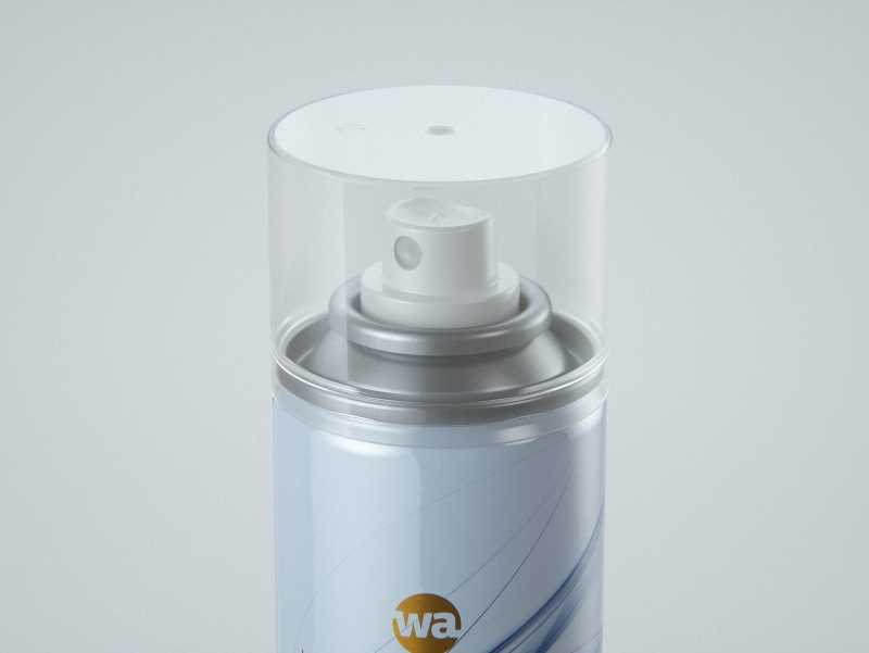 Hair Spray Metal Bottle 250ml packaging 3d model