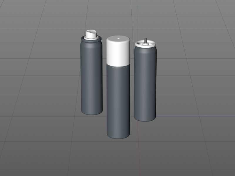 Hair Spray Metal Bottle 75ml packaging 3d model