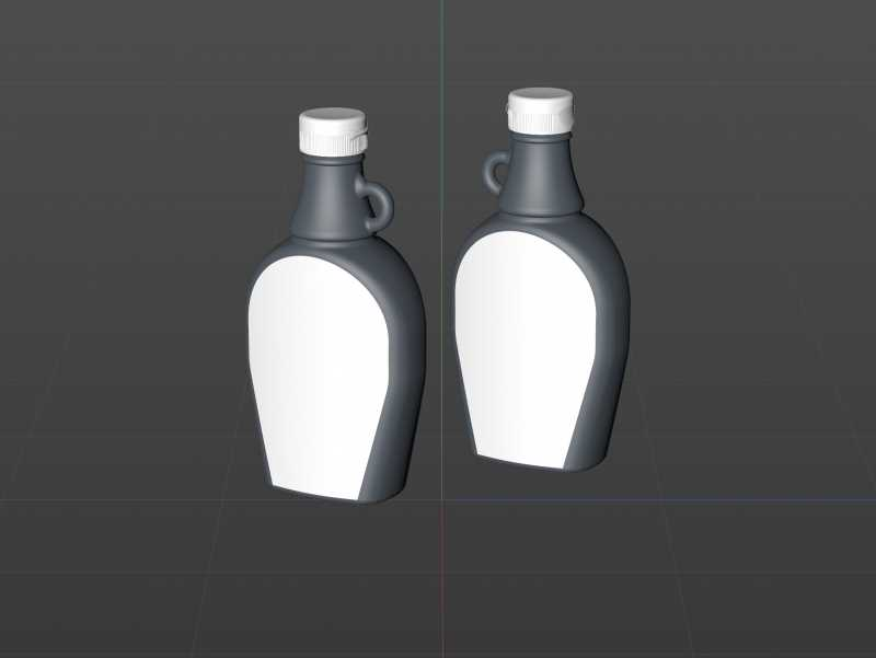 Maple Syrup Glass bottle 250ml 3D model pack (clear glass)