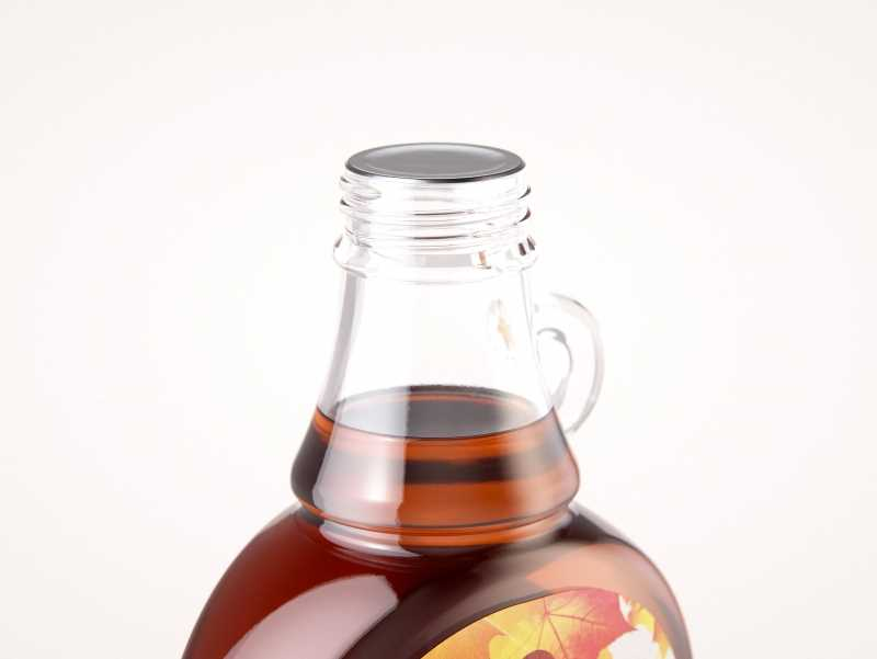 Maple Syrup Glass bottle 375ml 3D model pack (with a glass pattern)