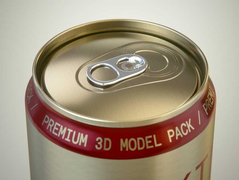 Rexam/Ball Aluminum KING Beer Can 1000ml premium packaging 3D model