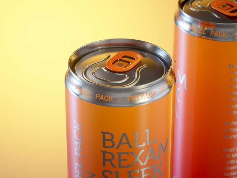 Ball/Rexam Soda Metal Sleek Can 330ml Premium 3D model pack