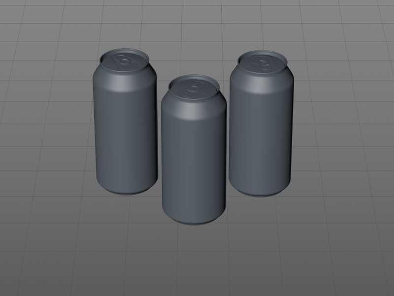 Ball/Rexam Metal XXL Size Can 900ml Premium packaging 3D model pack