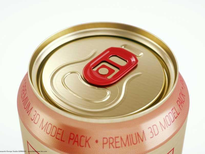 BALL (REXAM) Metal Standard Soda Can 330ml packaging 3D model