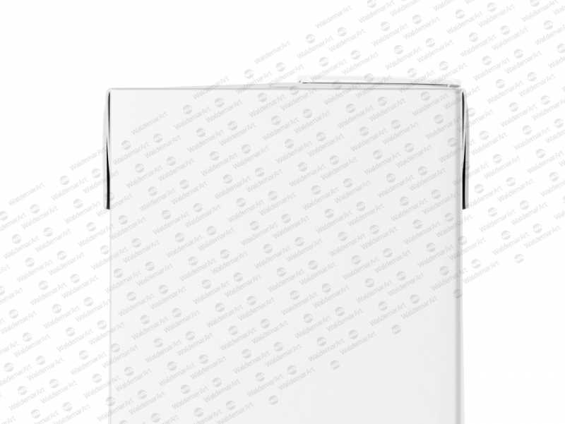 Tetra Pack Brick Mockup Aseptic 1000ml Slim with ReCap3 - Back view