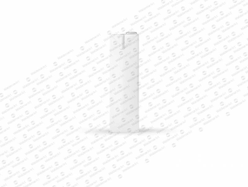 Tetra Pack Brick Mockup Aseptic 1000ml Slim with ReCap3 - Side view