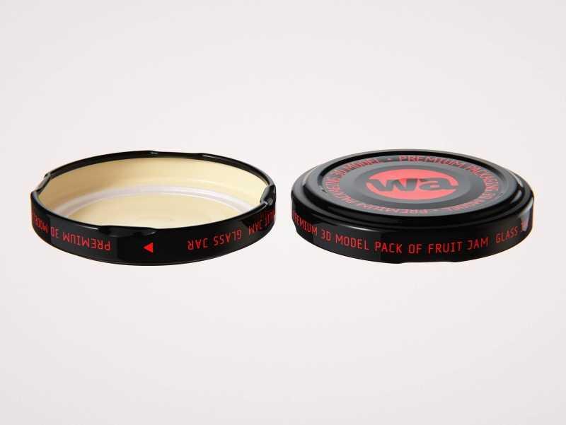 Pear Sauce Glass Jar 120g/90ml packaging 3d model