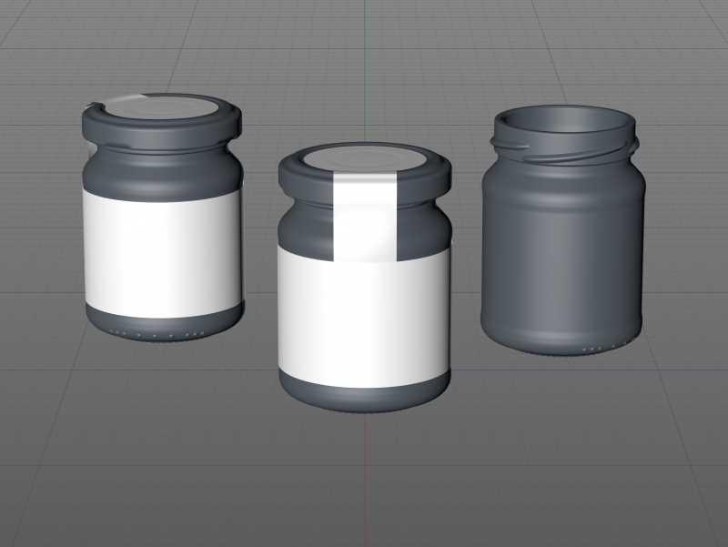 Pear Sauce Glass Jar 125ml packaging 3d model