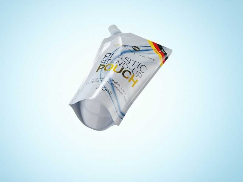 Plastic Stand-Up Pouch 500ml for hand wash packaging 3D model