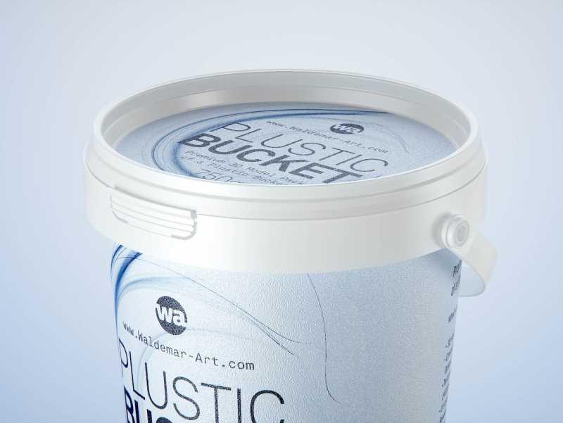 Plastic Bucket 750g packaging 3D model